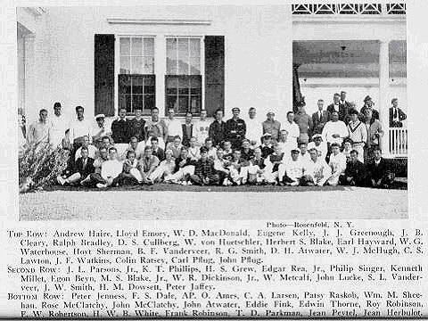 Participants in the 1932 Internationals