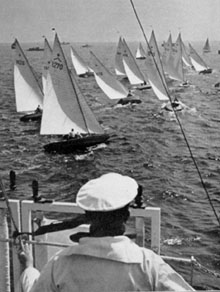 Stars racing at KielWeek in 1938